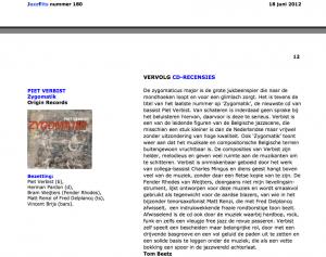 Zygomatik recensie Jazzflits nr180